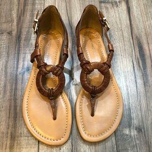 ANTONIO MELANI Brown Weave Sandal Size 7